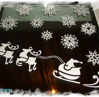 новогодние трафареты на окна