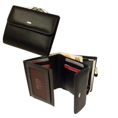 Мужской кошелек из кожи в три сгиба фото