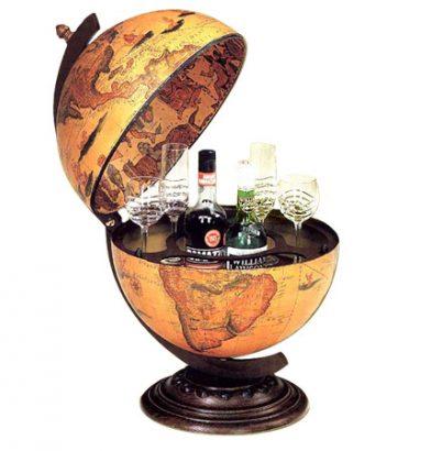 мини бар в виде глобуса