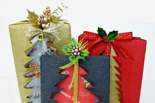 обертка подарка с рисунками