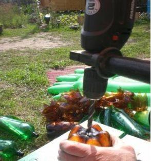 пальма из пластиковых бутылок инструкция