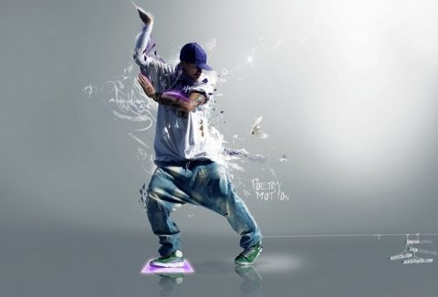 парень танцует хип-хоп