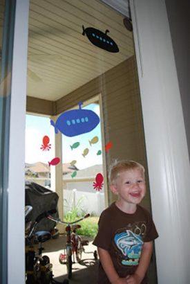 Подводная лодка – украшение на окно