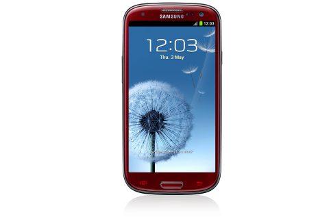 Samsung GALAXY S III красный фото