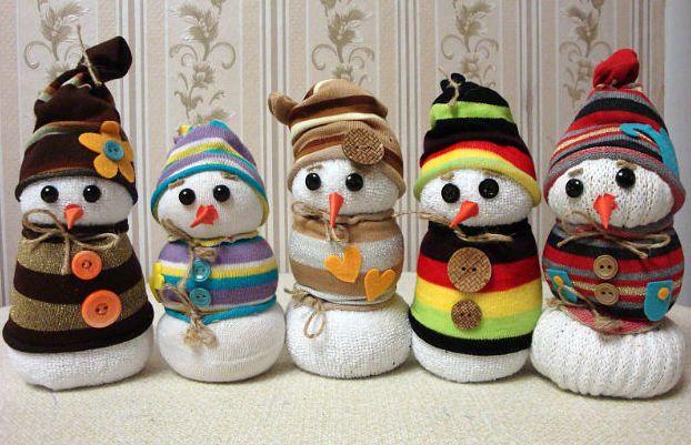 Как сделать снеговика из ваты фото 438