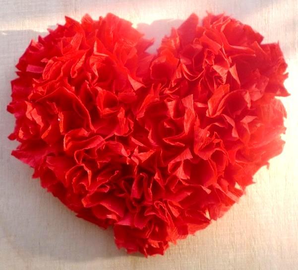 Валентинки из салфеток своими руками объемные