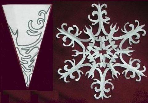 Снежинки своими руками из бумаги на окна