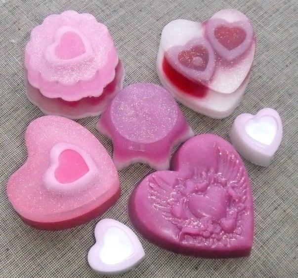 мыло сердце на 14 февраля